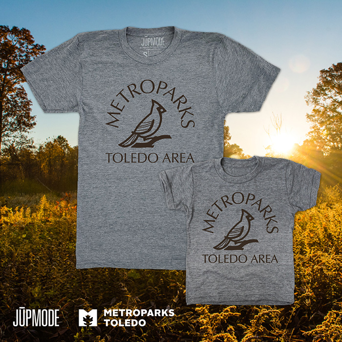 Shirts are available in adult and youth sizes and can be purchased online or visit Jupmode's Cricket West store. 10% of the sales go back to the Metroparks.